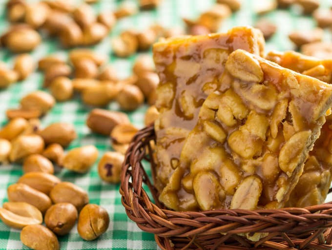 jaggery with peanuts